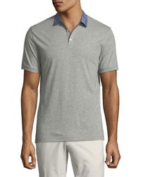 Lyst - Original Penguin Classic Tipped Polo Shirt in Purple for Men db6088a00dfc3