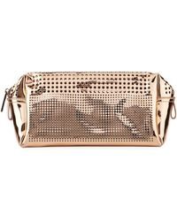 Neiman Marcus - Perforated Metallic Cosmetic Bag - Lyst