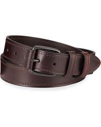 Neiman Marcus - Double-loop Leather Belt - Lyst