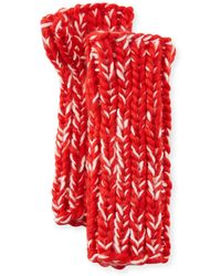 San Diego Hat Company - Chunky Marled Knit Fingerless Gloves Red - Lyst