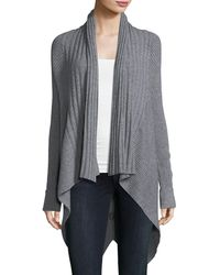 Metric Knits - Multi-ribbed High-low Cardigan - Lyst