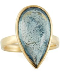 Ippolita - 18k Rock Candy® Medium Teardrop Ring W/ Topaz & Labradorite Doublet - Lyst