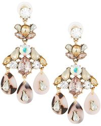 Fragments - Crystal Teardrop Dangle Earrings - Lyst