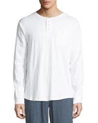 Unsimply Stitched - Men's Slub Lounge Henley Shirt - Lyst