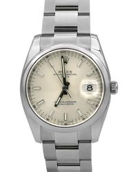 Rolex - Pre-owned 34mm Oyster Date Automatic Bracelet Watch - Lyst