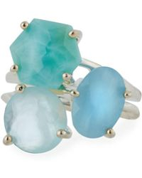 Ippolita - Rock Candy 3-stone Cluster Ring In Light Blue - Lyst