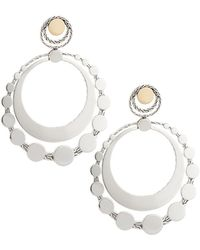 John Hardy - Dot Deco Large Round Drop Earrings - Lyst