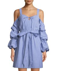 Alexia Admor - Sweetheart Cold-shoulder Ruffle-sleeve Dress - Lyst