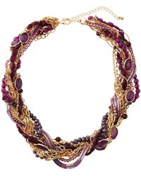 Lydell NYC - Torsade Beaded Necklace - Lyst