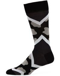 Bugatchi - Men's Chevron-splotch Socks - Lyst