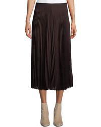 82282120b9 Akris Punto - Plisse Wool-blend Midi Skirt - Lyst
