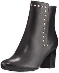 Neiman Marcus | Jaimi Leather Studded Ankle Bootie | Lyst