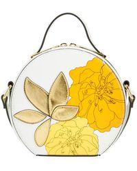 Christian Siriano Athena Floral Mini Hatbox Crossbody Bag