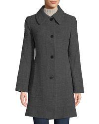 Fleurette - Fitted Tweed Band-hem Coat - Lyst