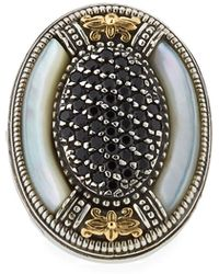 Konstantino - Mother-of-pearl & Spinel Oval Ring - Lyst