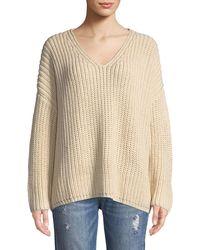 Tularosa - Adams Chunky Knit V-neck Sweater - Lyst