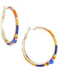 Nakamol - Multicolor Bead Hoop Earrings - Lyst