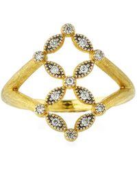 Jude Frances - Lisse 18k Gold Diamond Ring - Lyst