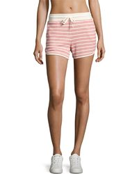 Marc New York - Striped French Terry Dolphin Shorts - Lyst