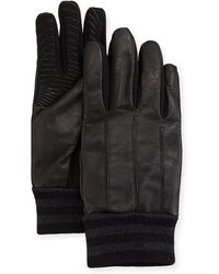 Neiman Marcus - Men's Leather & Fabric Tech Gloves - Lyst