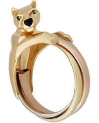 Cartier - Estate Panthere Trinity 18k Triple Band Ring - Lyst