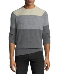 Neiman Marcus - Men's Cashmere Colorblock Crewneck Sweater - Lyst