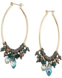 Nakamol - Mixed Crystal Open Marquise Hoop Earrings - Lyst