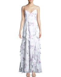 Fame & Partners - The Nav Ruffled Floral Sleeveless Gown - Lyst