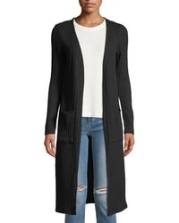 Kensie - Ribbed Open-front Duster Cardigan - Lyst