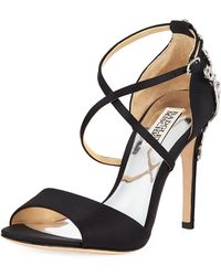 Badgley Mischka - Karmen Ii Embellished Satin Dressy Sandal - Lyst