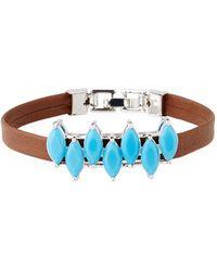 Fallon - Monarch Mini Jagged Edge Cuff Bracelet - Lyst