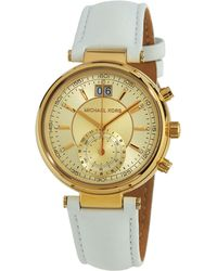 MICHAEL Michael Kors - 39mm Champagne Chronograph Watch - Lyst
