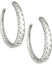 John Hardy | Dot Silver Open Hoop Earrings | Lyst