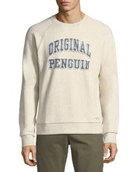 Original Penguin - Printed Logo Crewneck Sweater - Lyst