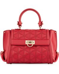 Ferragamo - Quilted Leather Top-handle Bag - Lyst