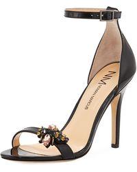 Neiman Marcus - Beckbee Patent High Heel Sandal - Lyst