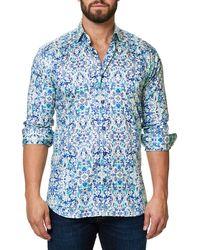 Maceoo - Trim Fit Print Sport Shirt - Lyst