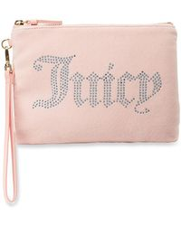 Juicy Couture - Velour Wristlet Wallet With Charger - Lyst