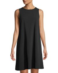 Neiman Marcus - Double-crepe Dress W/ Front Seams - Lyst