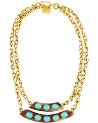 Ashley Pittman - Ukuta Horn & Turquoise Double-strand Statement Necklace - Lyst