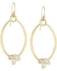 Jude Frances - 18k Diamond Marquise Silhouette Dangle & Drop Earrings - Lyst