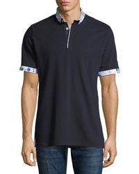 Maceoo - Men's Paint-drip Pique Polo Shirt - Lyst