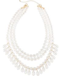 Lydell NYC - Lucite® Multi-row Beaded Necklace - Lyst