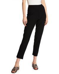 Joan Vass - Textured Relaxed-leg Pull-on Pants - Lyst