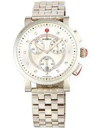 Michele - 42mm Sport Sail Chronograph Bracelet Watch W/ Diamonds - Lyst