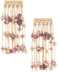 Lydell NYC - East-west Chain Tassel Earrings - Lyst