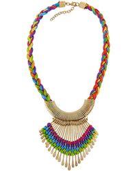 Panacea - Rainbow Braided Statement Necklace - Lyst