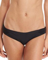 Tori Praver Swimwear | Bethany Smocked Solid Swim Bottom | Lyst