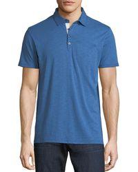 Neiman Marcus - Slub Knit Polo Shirt - Lyst