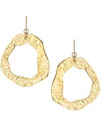 Devon Leigh - Hammered Dangle Earrings - Lyst